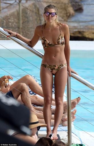 swimwear ashley hart bikini skimpy bikini floral pattern