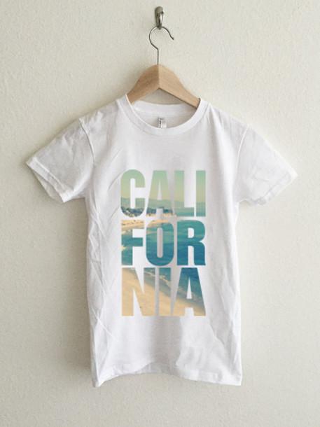 shirt california graphic tee tshirt. white t-shirt