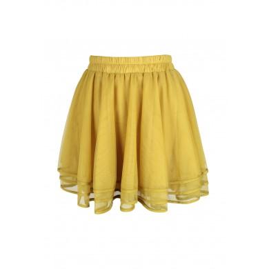 Four layers symphony mesh skirt (yellow)