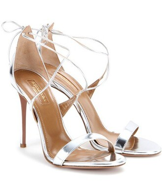 metallic sandals leather sandals leather silver shoes