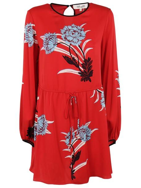 Diane Von Furstenberg dress mini dress mini floral black