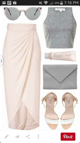 skirt baby pink tulip skirt draped skirt blush pink