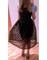 Calf skirt dots ball gown black