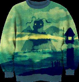 sweater pokemon printed sweater
