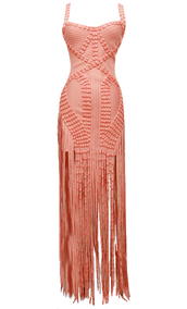 dress,dream it wear it,coral,coral dress,orange,orange dress,pink,pink dress,fringes,fringed dress,long dress,long,prom dress,event,formal event dress,formal dress,long prom dress,studded dress,party,party dress,sexy party dresses,sexy,sexy dress,party outfits,summer dress,summer outfits,spring dress,spring outfits,fall dress,fall outfits,winter dress,winter outfits,classy,classy dress,elegant,elegant dress,cocktial,cocktail dress,red carpet dress,girly,date outfit,birthday dress,holiday dress,cute,dope,trendy,style,stylish,romantic,romantic dress,fashion