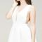 Pleated sweetheart dress
