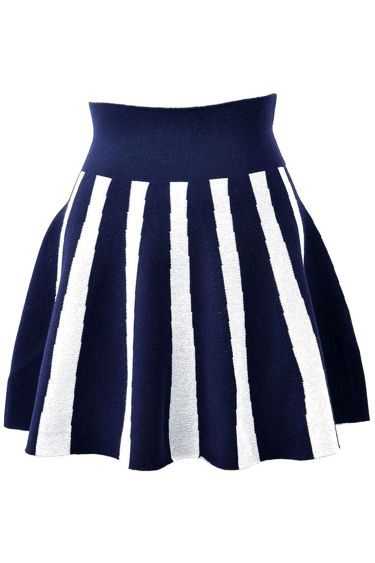 Wide Stripes Skirt - OASAP.com
