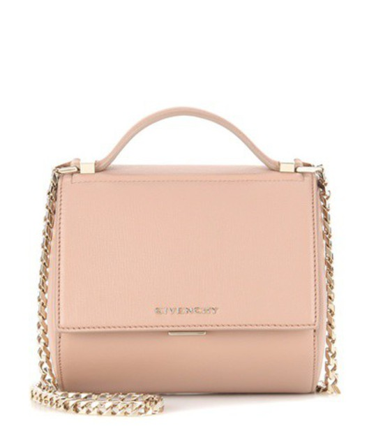 Givenchy Pandora Box Chain Leather Shoulder Bag in neutrals