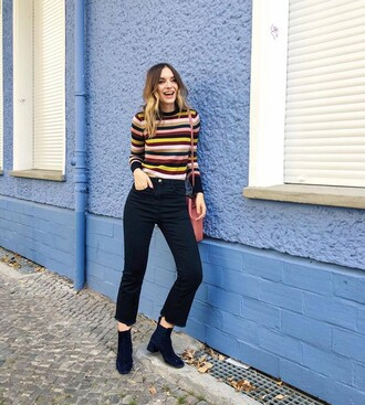 sweater stripes striped sweater grunge 90s style 80s style vintage cute yellow striped top alternative mustard burgundy