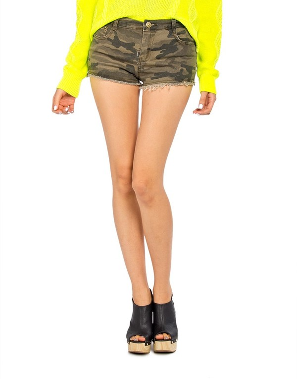 2013 Summer New Fashion Women Camouflage Print Slim Tight Denim ...