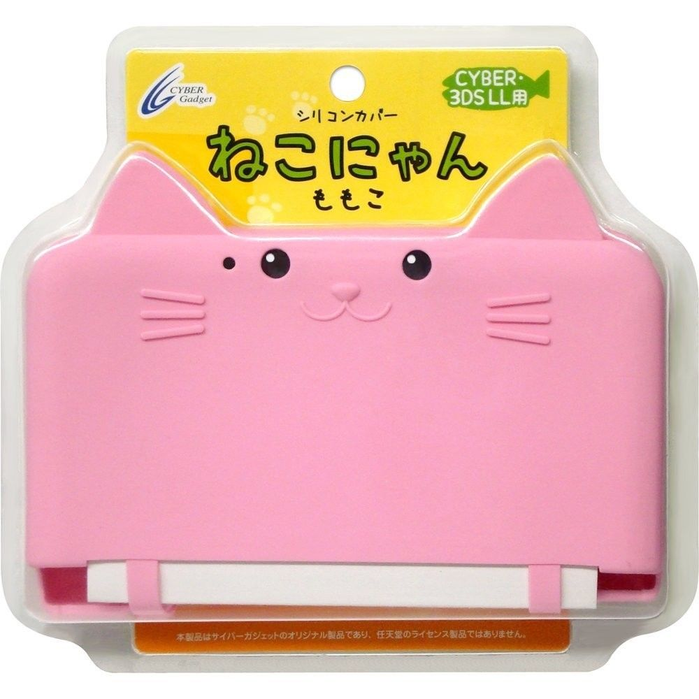 3DS ll Cat Neko Nyan Cyber Nintendo XL Silicon Hard Case Cover Pink | eBay