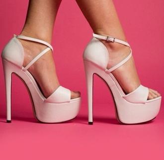 shoes pink peep toes light pink peep toe heels sandles baby pink high heels