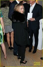 coat,black,fur,mary kate olsen