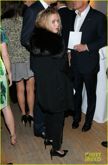 mary kate olsen coat black fur