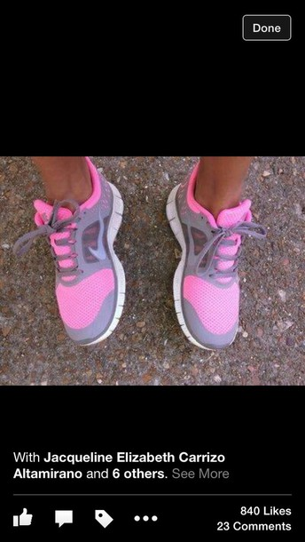 0ebdbb30da pink and grey nike free run