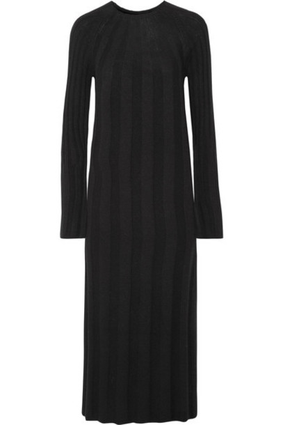 Elizabeth and James dress midi dress midi black knit
