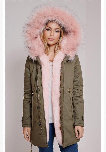coat pink winter coat fur coat