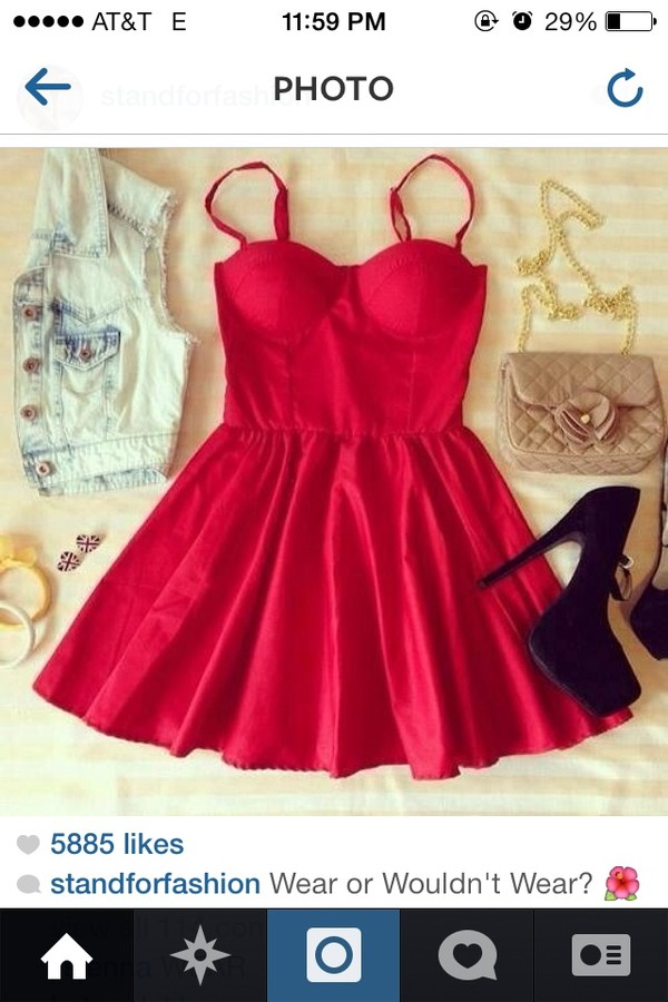 dress red dress cute dress