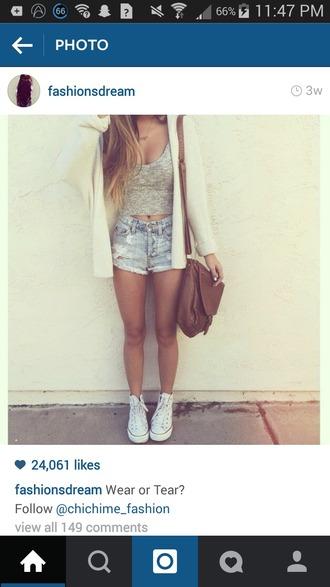 shorts shirt bag coat shoes