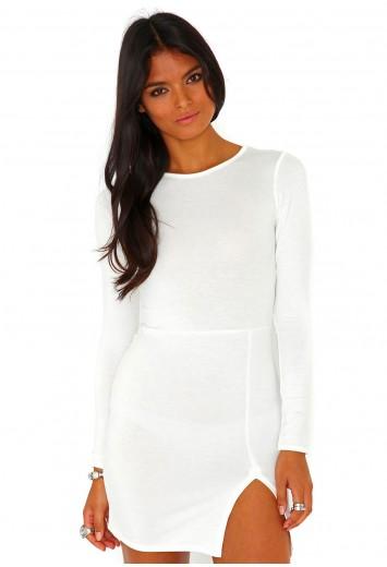 Grecia Split Mini Dress - Dresses - Mini Dresses - Missguided