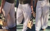 pants,long pleated pants