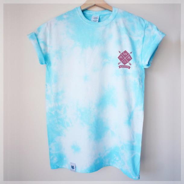 T shirt dyed dip dyed tie dye girl boyfriend unisex for Mens dip dye shirt