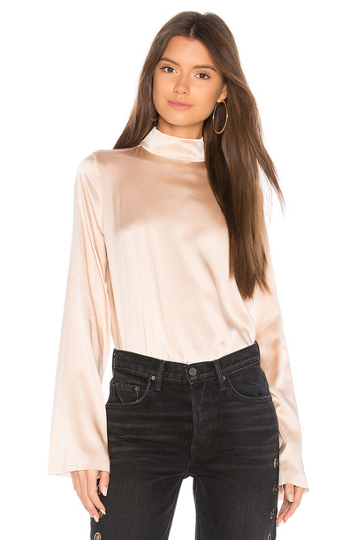 KENDALL + KYLIE blouse oversized silk blush top