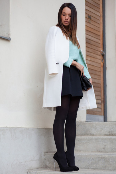 cashmere in style coat sweater skirt shoes bag