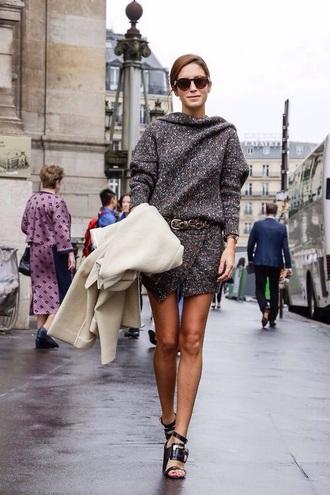 wool charcoal dress sweater dress