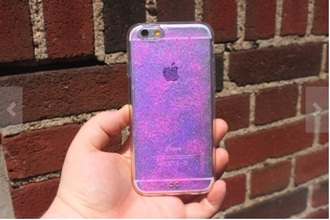 phone cover pink glitter