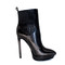 Designer fashion - high heel black booties