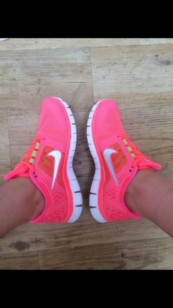 shoes nike free hot punch pink