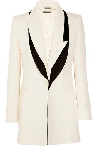 blazer silk wool satin jacket