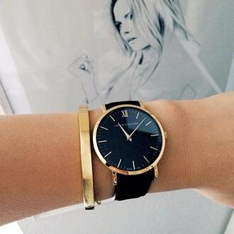 black watch black and gold watch minimalist minimalist jewelry classic classy holiday gift larsson and jennings all black and gold wishlist jewels belt black gold gold and black watch jewelry bracelets gold bracelet gold watch women watches home accessory