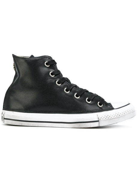 converse women classic sneakers leather cotton black shoes