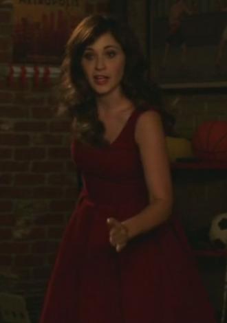 new girl zooey deschanel jess day red dress