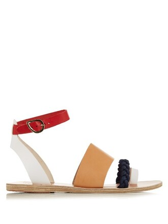 sandals leather sandals leather red shoes