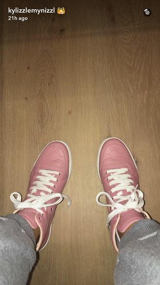 shoes kylie jenner kardashians gucci pink hot pink and white patent kylie jenner shoes kylie jenner sneakers fashion