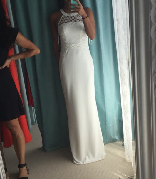 dress barino formal dress white dress