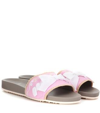 embellished sandals pink shoes