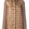 Herno - padded jacket - women - cotton/polyamide/polyester/goose down - 44, brown, cotton/polyamide/polyester/goose down