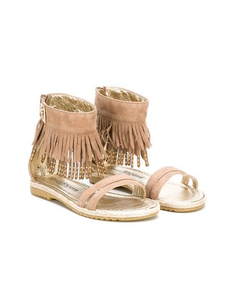 Cesare Paciotti Kids sandals nude suede 24 shoes