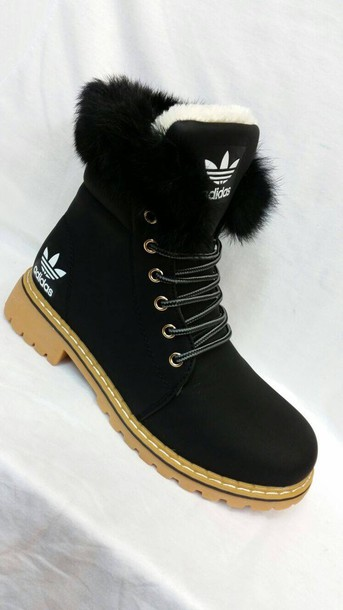 finest selection 7d295 67ca9 shoes adidas boots winter boots adidas shoes adidas black fur