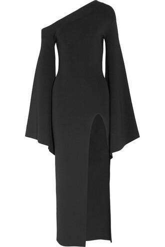 gown black knit dress