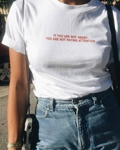 blouse,t-shirt,riot,tumblr,trendy,cute,shirt,quote on it,quote on a t shirt,white,angry,politics,red,girl,top,bottom,what,small,grunge,writing,women t shirts,grunge t-shirt,white t-shirt,punk
