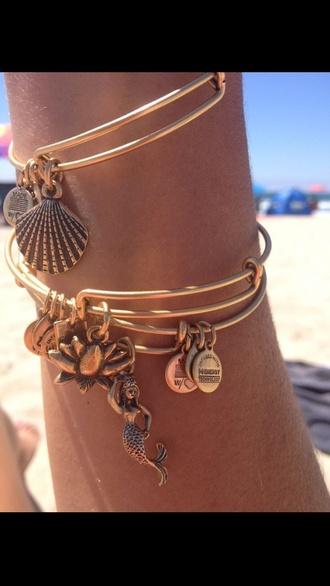 jewels gold mermaid shells bangles