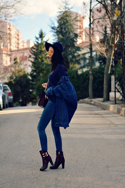 0e8ab7732a5f shoes tumblr boots black boots high heels boots ankle boots denim jeans  blue jeans skinny jeans