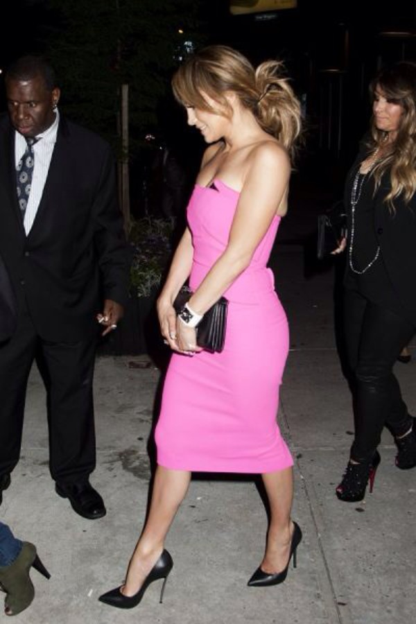 dress jennifer lopez pink