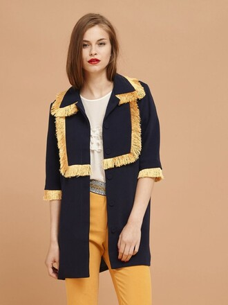 jacket fringes gold london fall outfits