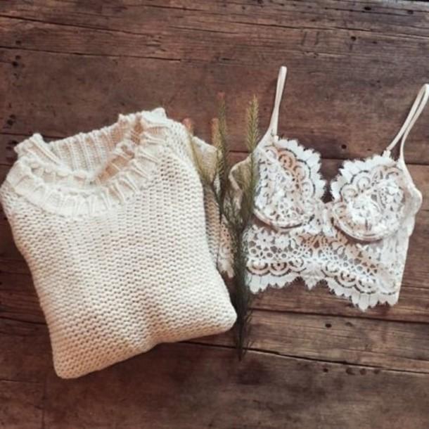 top sweater underwear